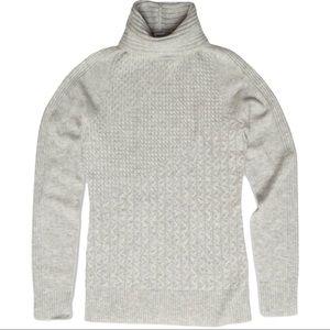 SmartWool Women's Dacono Ski Sweater Size Large Ash Heather Grey SW019273
